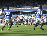Preston North End's Paul Gallagher free kick hits the post<br /> <br /> Photographer Mick Walker/CameraSport<br /> <br /> The EFL Sky Bet Championship - Birmingham City v Preston North End - Saturday 21st September 2019 - St Andrew's - Birmingham<br /> <br /> World Copyright © 2019 CameraSport. All rights reserved. 43 Linden Ave. Countesthorpe. Leicester. England. LE8 5PG - Tel: +44 (0) 116 277 4147 - admin@camerasport.com - www.camerasport.com