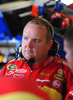 May 1, 2009; Richmond, VA, USA; Gil Martin crew chief for NASCAR Sprint Cup Series driver Kevin Harvick (not pictured) during practice for the Russ Friedman 400 at the Richmond International Raceway. Mandatory Credit: Mark J. Rebilas-