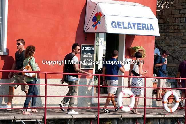 A gelato stand in Varenna, Italy on Lake Como
