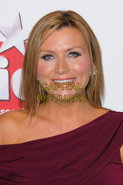 headshot portrait pink fuschia purple .Arrivals at the TV Choice Awards 2012 held at the Dorchester Hotel, London, England..September 10th, 2012.headshot portrait  off the shoulder red pink fuschia .CAP/CJ.©Chris Joseph/Capital Pictures.