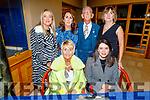 Enjoying the Bon Jovee fundraiser in the Brandon Hotel on Saturday.<br /> Front Audrey Moran and Barbara Liston.<br /> Back l to r: Cora Walsh, Eileen Whelan, Cllr Sam Locke (Deputy Mayor of Tralee) and Mary Lynch.