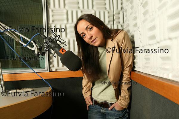 Milano, 3 febbraio 2004.Camila Raznovich  Radio Italia Network