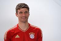 FUSSBALL     1. BUNDESLIGA     SAISON  2012/2013     30.07.2012 Fototermin beim  FC Bayern Muenchen  Thomas Mueller