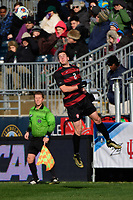 Chester, PA - Sunday December 10, 2017: Foster Langsdorf. Stanford University defeated Indiana University 1-0 in double overtime during the NCAA 2017 Men's College Cup championship match at Talen Energy Stadium.