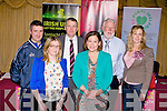 Attending the Sinn Fein's at the public meeting on austerity at the Meadowlands hotel, Tralee on Friday l-r: Cllr. Cathal Foley, Diane Daly, cllr. Patrick Daly, Mary Lou McDonald TD, Toiréasa Ferris and Martin Ferris TD.