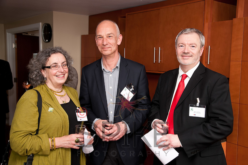 From left are Jennifer Spencer of Experience Nottinghamshire,Ben Braber and Kevin Jackson of Retina Dance