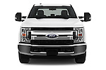 Car photography straight front view of a 2017 Ford F-350 XLT-Super 4 Door Pick-up Front View