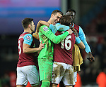 West Ham's Adrian celebrates at the final whistle<br /> <br /> - English Premier League - West Ham Utd vs Tottenham  Hotspur - Upton Park Stadium - London - England - 2nd March 2016 - Pic David Klein/Sportimage