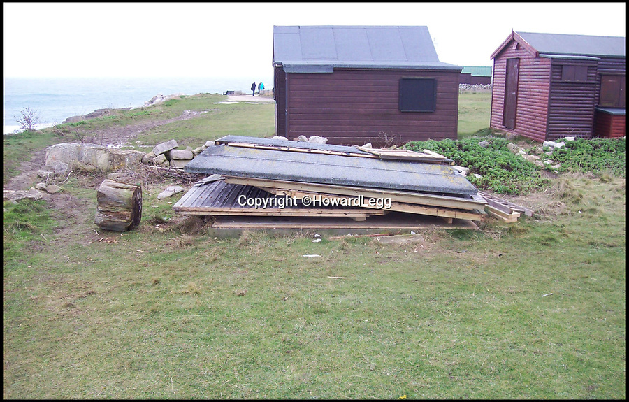 BNPS.co.uk (01202 558833)Pic: HowardLegg/BNPSHut 18 is pictured just after being dismantled.<br /> A group of of disgruntled beach hut owners are faced with a £500,000 legal bill after a failed court case against their 'unfair' landlord. <br /> <br /> The five hut owners were disputing a new tenancy agreement which gave the owner of the land they are on the right to evict them with just <br /> three months notice.<br /> <br /> Howard Legg, whose family have rented the land at Portland Bill, Dorset, to hutters for 60 years, demanded all 71 tenants sign the deal but five refused.<br /> <br /> They said the contract was illegal and it went back on a long-standing gentleman's agreement in place and took former mayor Mr Legg to court.