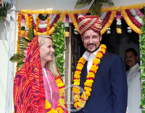 Crown Prince Haakon & Crown Princess Mette-Marit of Norway visit India. Visit to a Community Health Centre in Chummu.