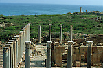 Lepcis Magna was the most easterly of the three cities that gave the North African region of Tripolitania its name.Site de Leptis Magna, côte nord de la Lybie. Lybia