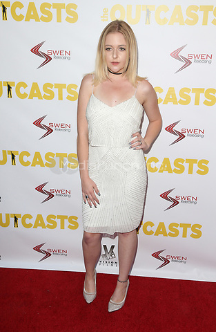 "WESTWOOD, CA - April 13: Mahkenna, At Premiere Of Swen Group's ""The Outcasts"" At The Landmark Regent  In California on April 13, 2017. Credit: FS/MediaPunch"