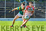 Dylan Geaney OS Chorcha Dhuibhne and Harry Potts St Brendans in action during the Corn Uí Mhuiri on Saturday