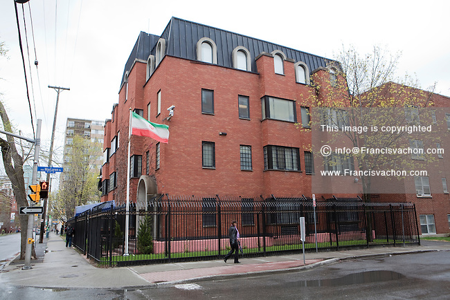 Iran Embassy in Canada is pictured in Ottawa Tuesday April 24, 2012.