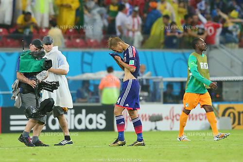 Keisuke Honda (JPN), <br /> JUNE 14, 2014 - Football /Soccer : <br /> 2014 FIFA World Cup Brazil <br /> Group Match -Group C- <br /> between Cote d'Ivoire 2-1 Japan <br /> at Arena Pernambuco, Recife, Brazil. <br /> (Photo by YUTAKA/AFLO SPORT) [1040]