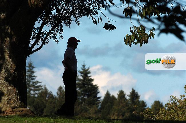 4th October, 2006 AA Insurance Ladies Championships All Ireland Finals held at Headfort Golf Club, Kells, County Meath..A lady golfer silhouetted during the above..Photo: BARRY CRONIN/Newsfile..(Photo credit should read BARRY CRONIN/NEWSFILE).