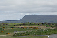 Benbulbin from the 4th tee during round 1 of The West of Ireland in Sligo Golf Club on Friday 18th April 2014.<br /> Picture:  Thos Caffrey / www.golffile.ie