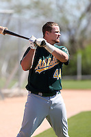 Petey Paramore, Oakland Athletics 2010 minor league spring training..Photo by:  Bill Mitchell/Four Seam Images.
