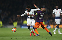 Tottenham Hotspur's Danny Rose holds off Manchester City's Fernandinho<br /> <br /> Photographer Rob Newell/CameraSport<br /> <br /> UEFA Champions League Quarter-finals 1st Leg - Tottenham Hotspur v Manchester City - Tuesday 9th April 2019 - White Hart Lane - London<br />  <br /> World Copyright © 2018 CameraSport. All rights reserved. 43 Linden Ave. Countesthorpe. Leicester. England. LE8 5PG - Tel: +44 (0) 116 277 4147 - admin@camerasport.com - www.camerasport.com