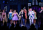 "Beth Leavel, Isabelle McCalla, Caitlin Kinnunen, Brooks Ashmanskas and Christopher Sieber during the Broadway Opening Night Curtain Call of ""The Prom"" at The Longacre Theatre on November 15, 2018 in New York City."