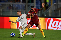Lucas Vazquez of Real Madrid and Aleksandar Kolarov of AS Roma compete for the ball during the Uefa Champions League 2018/2019 Group G football match between AS Roma and Real Madrid atOlimpico stadium , Rome, November, 27, 2018 <br />  Foto Andrea Staccioli / Insidefoto