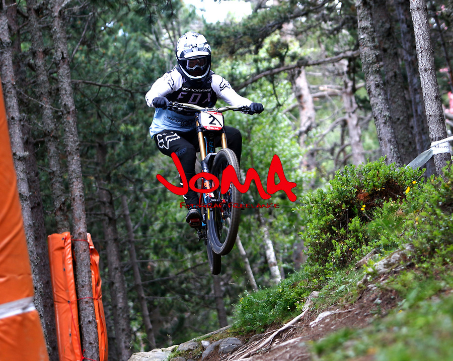 Laurie Greenland (GBR)Downhill training sesion, UCI, Moutain Bike World Cup , Vallnord Andorra. 12/07/2018