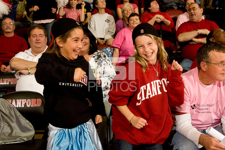 STANFORD, CA - FEBRUARY 14:  Fans of the Stanford Cardinal during Stanford's 58-41 win against the California Golden Bears on February 14, 2009 at Maples Pavilion in Stanford, California.