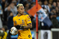 HARRISON, NJ - MARCH 11: Eduardo Vargas #9 of Tigres UANL during a game between Tigres UANL and NYCFC at Red Bull Arena on March 11, 2020 in Harrison, New Jersey.