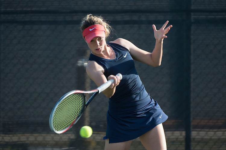April 23, 2014; San Diego, CA, USA; Gonzaga Bulldogs player Isabell Klingert during the WCC Tennis Championships at Barnes Tennis Center.