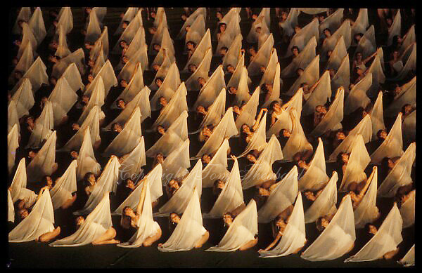 July 18, 1986; Moscow, Soviet Union; Image is of dancers in chiffon performing in unison at opening ceremony at 1986 Goodwill Games Moscow..(©) Copyright 1986 Tom Theobald