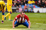 Atletico de Madrid Diego Godín during La Liga match between Atletico de Madrid and UD Las Palmas at Vicente Calderon Stadium in Madrid, Spain. December 17, 2016. (ALTERPHOTOS/BorjaB.Hojas)