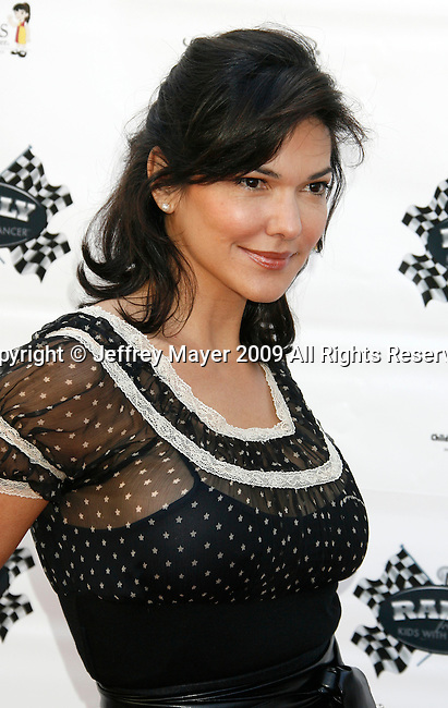 GLENDALE, CA. - March 31: Laura Harring arrives at The Rally For Kids With Cancer Scavenger Cup Los Angeles at Press Conference on March 31, 2009 in Glendale, California.