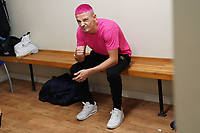 Anton Haskins in the dressing room during a Boxing Show at Whitchurch Leisure Centre on 5th October 2019. Lee Haskins and his son Anton Haskins both appeared on the same card, Anton making his professional debut.
