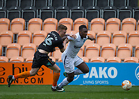Aaron Pierre of Wycombe Wanderers holds off Harry Taylor of Barnet during the Sky Bet League 2 match between Barnet and Wycombe Wanderers at The Hive, London, England on 17 April 2017. Photo by Andy Rowland.