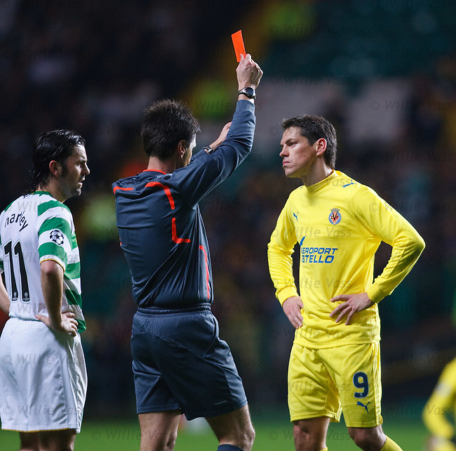 Guille Franco shown a straight red card