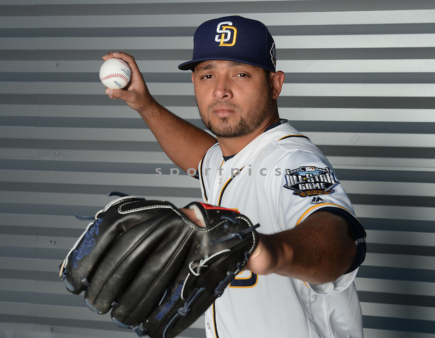 San Diego Padres Leonel Campos (57) during photo day on February 26, 2016 in Peoria, AZ.