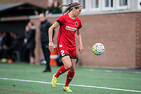 Allston, MA - Sunday, May 1, 2016:  Portland Thorns FC defender Katherine Reynolds (2) in a match against the Boston Breakers at Jordan Field, Harvard University.