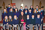 Glenbeigh Ns pupils who made their confirmation in Glenbeigh on Monday front row l-r: Megan Redmond, Louise Casey, Sarah Sheahan, Jessie Griffin, Donal O'Neill, Michael Murphy. Second row: Kelly Montgomerie, Kelly Sheahan, Anna Cahill, Caoilte Purcell, Dariel Griffin, Lorna Griffin, Conor Blunt. Back row: Tommy Cahill, Patrick Reidy, Saoirse Griffin, Mary-Claire Teahan, Meadbh Brennan, Iona McBriney and Charlie Matthews