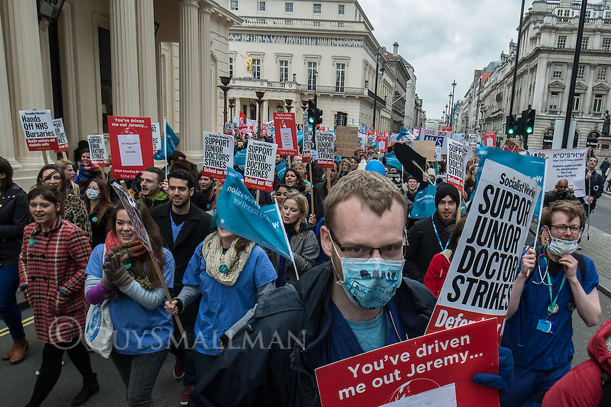 Junior Doctors protest central London 6-2-16