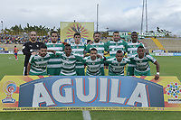 BOGOTÁ -COLOMBIA, 12-08-2018: Jugadores de La Equidad posan para una foto previo al encuentro con Deportivo Pasto por la fecha 4 de la Liga Águila II 2018 jugado en el estadio Metropolitano de Techo de la ciudad de Bogotá. / Players of La Equidad pose to a photo prior the date 4 against Deportivo Pasto for the date 4 of the Aguila League II 2018 played at Metropolitano de Techo stadium in Bogotá city. Photo: VizzorImage/ Gabriel Aponte / Staff