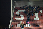 Stoke City 0 Valencia 1, 16/02/2012. Britannia Stadium, UEFA Europa League. Home supporters making their way out of the Britannia Stadium, Stoke-on-Trent, at the end of the UEFA Europa League last 32 first leg between Stoke City and visitors Valencia. The match ended in a 1-0 victory from the visitors from Spain. Mehmet Topal scored the only goal in the first half in a match watched by a crowd of 24,185. Photo by Colin McPherson.