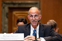 Richard Ashooh, Assistant Secretary For Export Administration at the Bureau of Industry and Security testifies during a United States Senate Hearing on the FY 2019 Budget for the Bureau of Industry and Security, the International Trade Administration, and the United States International Trade Commission on Capitol Hill in Washington, DC on September 6, 2018. Credit: Alex Edelman / CNP /MediaPunch