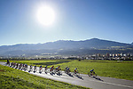 Action from the Women Junior Road Race of the 2018 UCI Road World Championships running 71.7km from Wattens to Innsbruck, Innsbruck-Tirol, Austria 2018. 27th September 2018.<br /> Picture: Innsbruck-Tirol 2018/BettiniPhoto | Cyclefile<br /> <br /> <br /> All photos usage must carry mandatory copyright credit (&copy; Cyclefile | Innsbruck-Tirol 2018/BettiniPhoto)