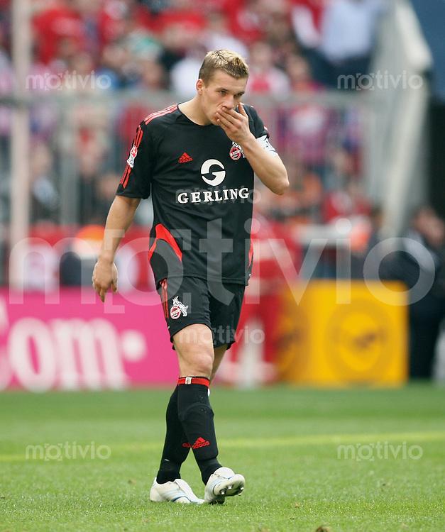 Fussball 1.Bundesliga 2005/2006  28.Spieltag FC Bayern Muenchen - 1. FC Koeln Lukas Podolski (1FCK)