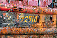 Abstract of Old Fishing Boat