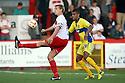 Mark Roberts of Stevenage holds off Andrai Jones of Bury. Stevenage v Bury - npower League 1 -  Lamex Stadium, Stevenage - 29th September, 2012. © Kevin Coleman 2012