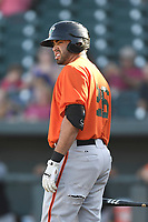 First baseman Jose Vizcaino Jr. (26) of the Augusta GreenJackets in a game against the Columbia Fireflieon Sunday, July 30, 2017, at Spirit Communications Park in Columbia, South Carolina. Augusta won, 6-0. (Tom Priddy/Four Seam Images)