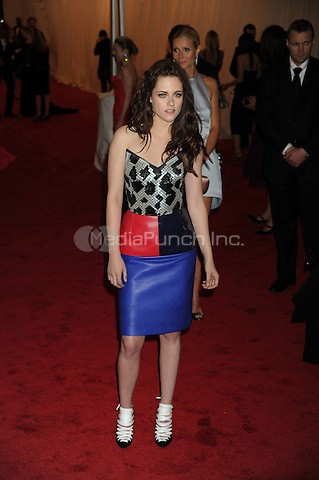 Kristen Stewart at the 'Schiaparelli And Prada: Impossible Conversations' Costume Institute Gala at the Metropolitan Museum of Art on May 7, 2012 in New York City.. Credit: Dennis Van Tine/MediaPunch