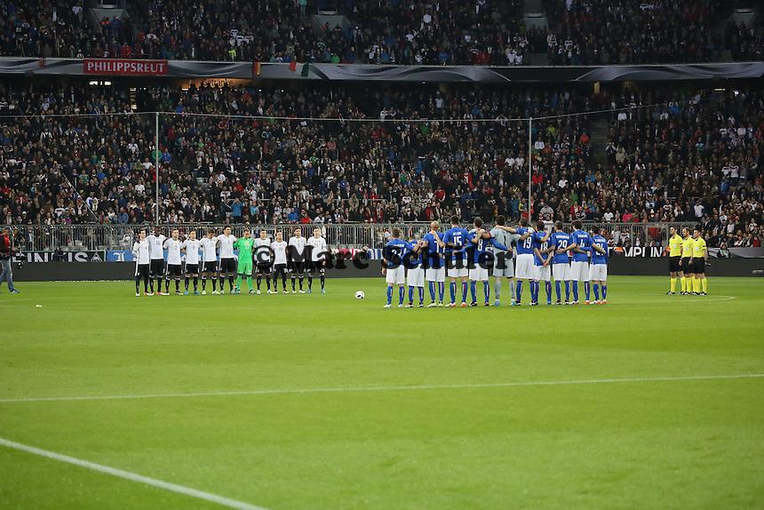 Schweigeminute für Johan Cryuff - Deutschland vs. Italien, Allianz Arena München