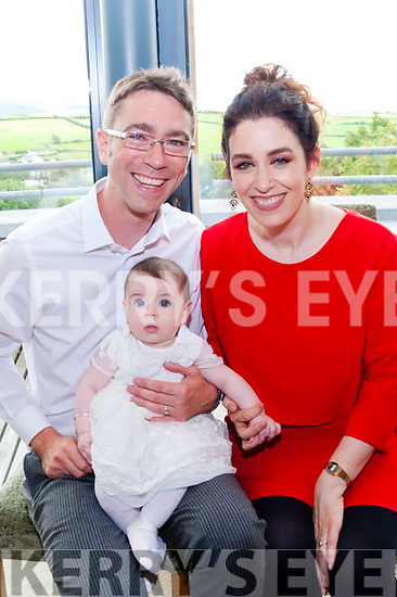 David McCormick and Victoria Kennefick celebrated the christening of their adorable daughter Vivienne Louise surrounded by friends and family in the Ballyroe Heights Hotel last Sunday afternoon.